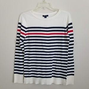 Nautica Women's Lightweight Striped Sweater NWT